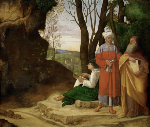 Giorgione, Los tres filósofos, c. 1507-1508, Kunsthistorisches Museum. Viena